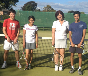 Graham Bunting and Shanti Pinto (l) bt Julia Burgess and Amit Tauro